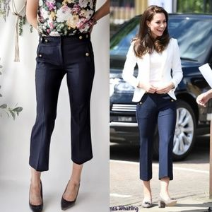 J.CREW Sailor Pant RARE ASO Duchess Kate blue 0928